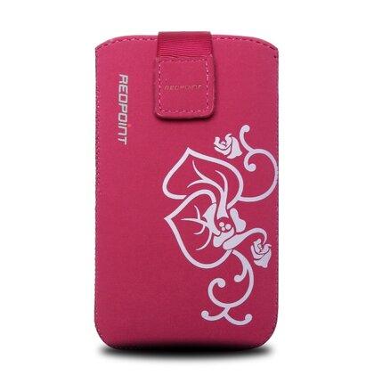 Púzdro RedPoint Velvet mikroplyš Flower 4XL ružové (iPhone 6/7/8 a podobná veľkosť)