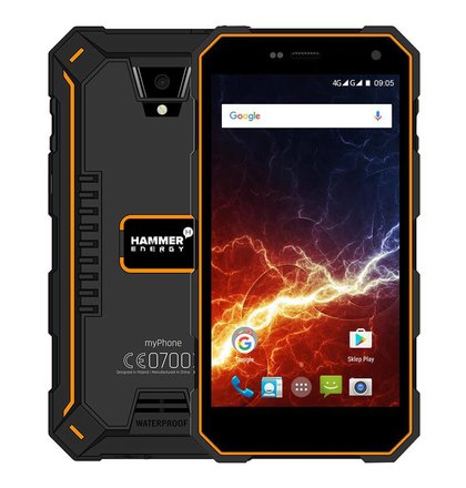 MyPhone Hammer Energy LTE Dual SIM, Oranžový
