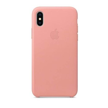 Apple iPhone X Leather Case - Soft Pink MRGH2ZM/A