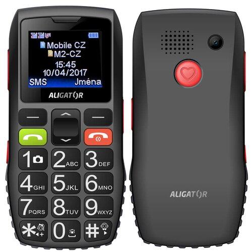 Aligator A440 Senior, Čierno-šedý + stolná nabíjačka