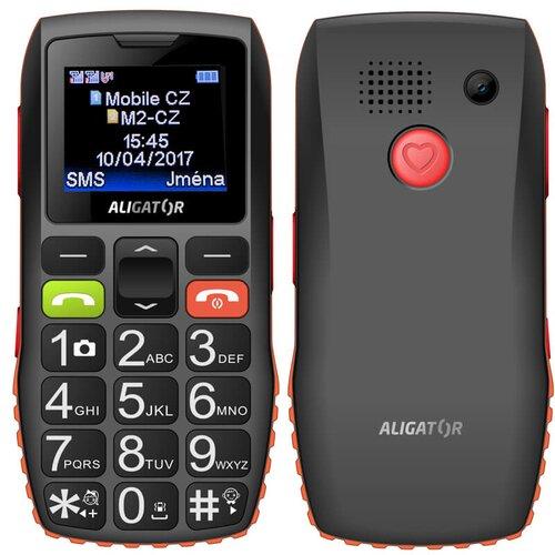 Aligator A440 Senior, Čierno-oranžový + stolná nabíjačka