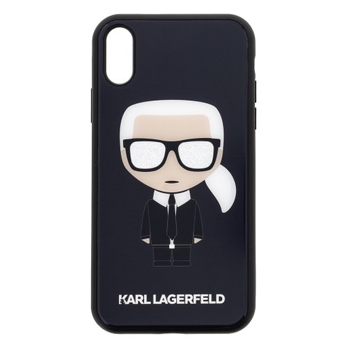 Puzdro Karl Lagerfeld pre iPhone XR KLHCI61DLFKBK silikónové, čierne