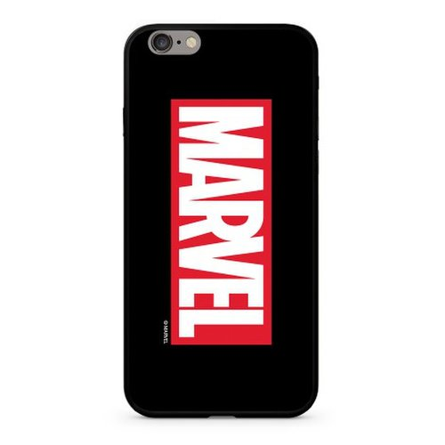 Puzdro Original Marvel Glass TPU iPhone 7 Plus/8 Plus MARVEL vzor 005 - čierne (licencia)