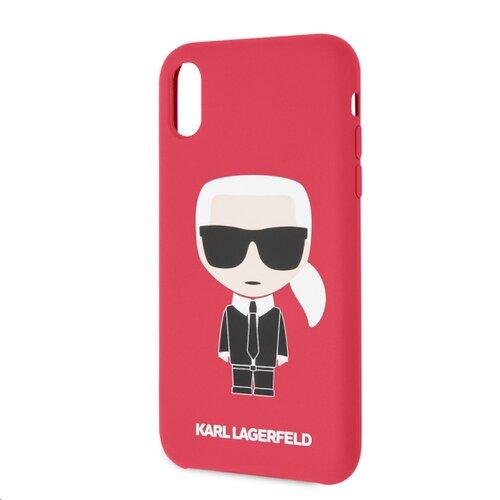 Puzdro Karl Lagerfeld pre iPhone XR KLHCI61SLFKRE silikónové, červené
