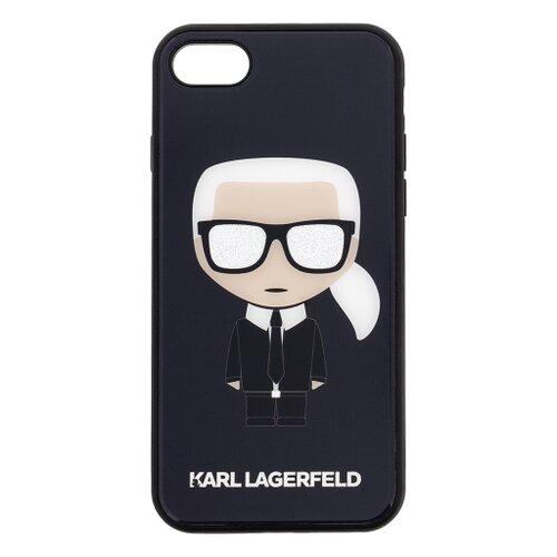 Puzdro Karl Lagerfeld pre iPhone 7/8/SE2020 KLHCI8DLFKBK silikónové, čierne