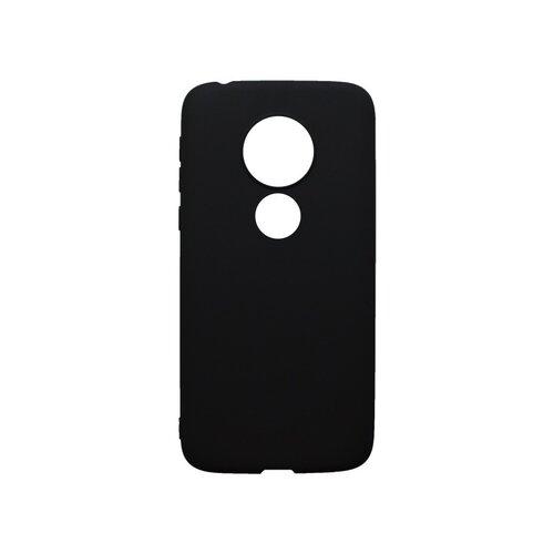 Matné gumené puzdro Moto G7 Play čierne