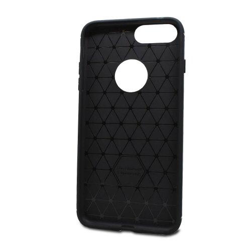 Puzdro Carbon Lux TPU iPhone 7 Plus/8 Plus - čierne