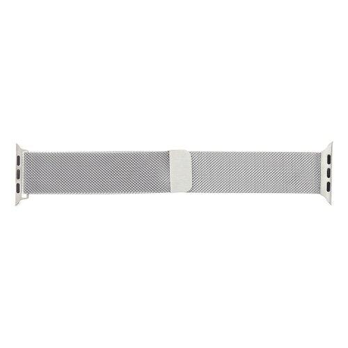 Tactical 350 Loop Magnetický kovový náramok pre iWatch 1/2/3/4/5/6/SE 38/40mm Strieborný