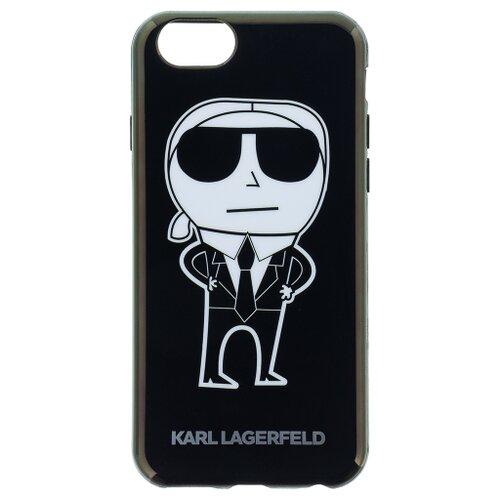 Puzdro Karl Lagerfeld pre iPhone 6/6S KLHCP6HTKKA silikónové, čierne