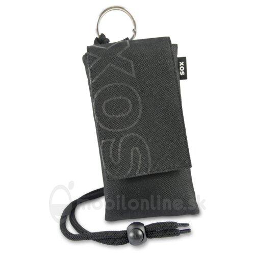 Puzdro Uni SOX Color Blocks 15,8 x 7,8 x 0,8 cm - čierne (iPhone 6 Plus/7 Plus a podobne)