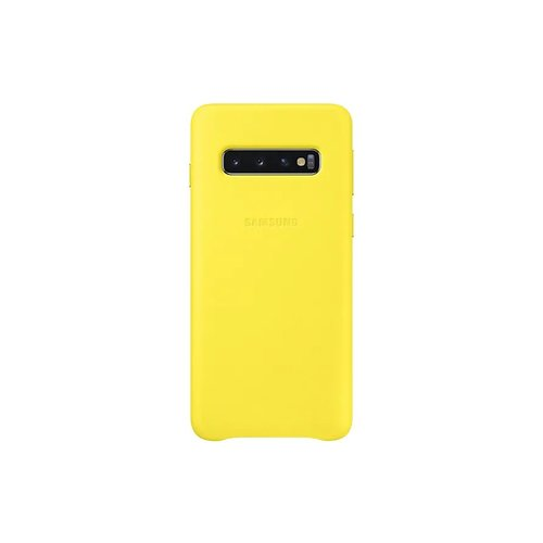 EF-VG973LYE Samsung Leather Cover Yellow pro G973 Galaxy S10