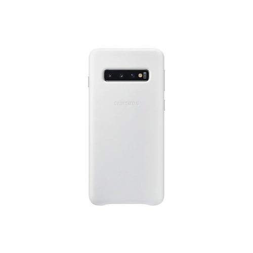 EF-VG973LWE Samsung Leather Cover White pro G973 Galaxy S10