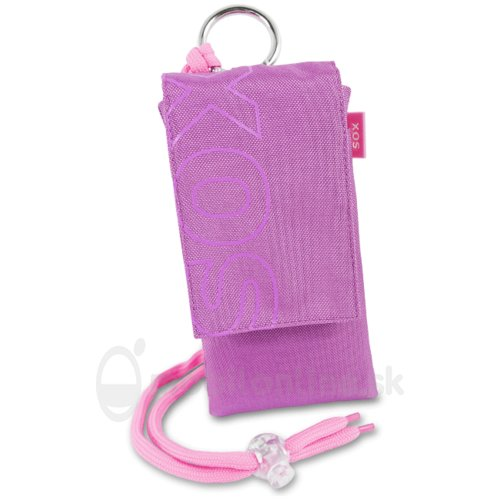 Puzdro Uni SOX Color Blocks 12,5 x 6,8 x 1,0 cm - ružové (iPhone 5/5s/SE a podobne)