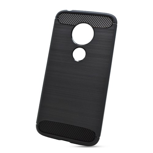 Puzdro Carbon Lux TPU Moto G7 Play - čierne
