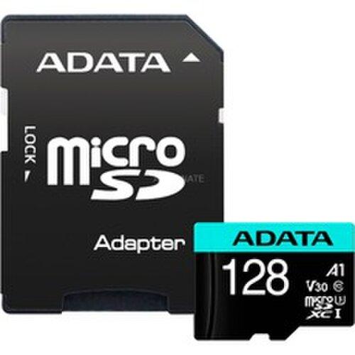 MicroSDXC karta A-DATA 128GB U3 V30S 100/80 MB/s + adaptér