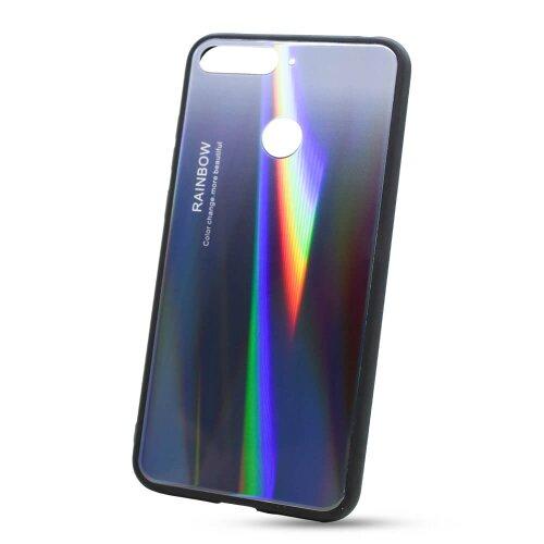 Puzdro Rainbow Glass TPU Huawei Y6 Prime 2018/Honor 7A - čierne