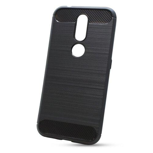 Puzdro Carbon Lux TPU Nokia 4.2 - čierne