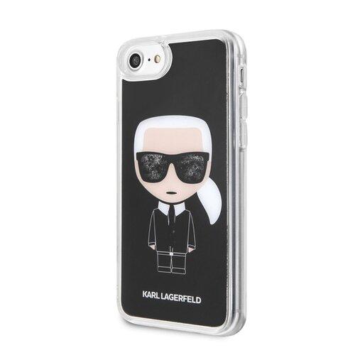 Puzdro Karl Lagerfeld pre iPhone 7/8/SE2020 KLHCI8ICGBK silikónové, čierne