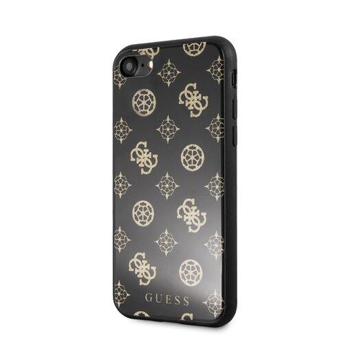 Puzdro Guess pre iPhone 7/8/SE2020 GUHCI8TGGPBK silikónové, čierne