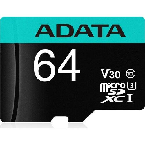 MicroSDXC karta A-DATA 64GB U3 V30S až 95MB/s + adaptér