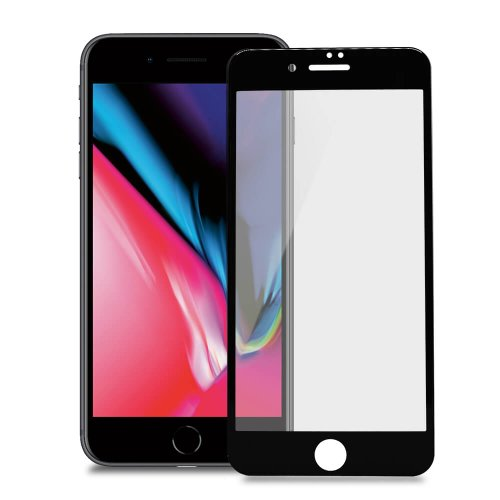 Ochranné sklo Blue Star 3D/5D 9H iPhone 7 Plus/8 Plus tvrdosť celotvárové - čierne