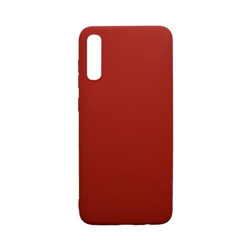 Matné silikónové puzdro Samsung Galaxy A70 červené