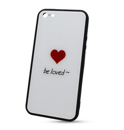 49d8627fa Puzdro Glass Hard TPU iPhone 5/5S/SE Srdce - biele