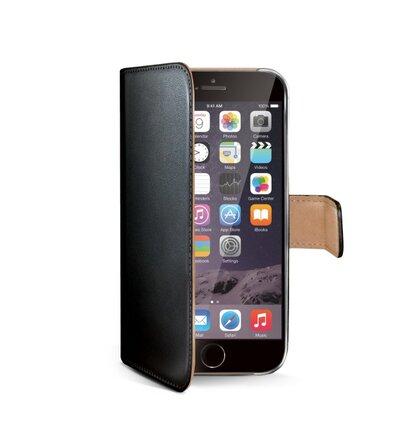 Puzdro Book CELLY Wally pre Apple iPhone 6 Plus/6S Plus, PU koža, čierne