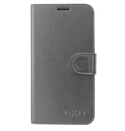 Puzdro FIXED FIT Shine Book Huawei P20 Lite - tmavo-sivé