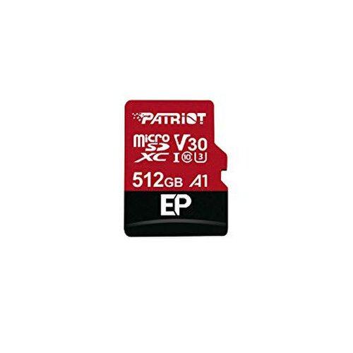 MicroSDXC karta PATRIOT 512GB V30 A1 Class 10 U3 100/80MB/s + adaptér
