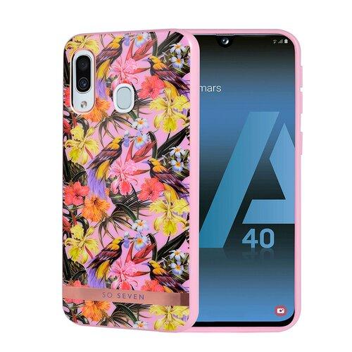 Puzdro SoSeven Coque Phuket TPU Silicone Samsung Galaxy A40 A405 Tropical Rose (EU Blister)