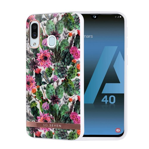 Puzdro SoSeven Coque Phuket TPU Silicone Samsung Galaxy A40 A405 Fleur Rose (EU Blister)