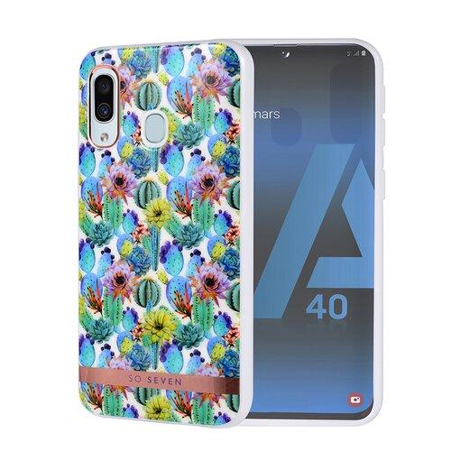 Puzdro SoSeven Coque Mexico TPU Silicone Samsung Galaxy A40 A405 Cactus Blue (EU Blister)
