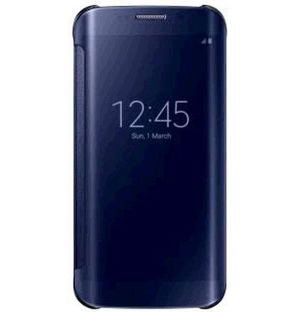 Samsung Clear View púzdro pre Galaxy S6 EDGE, Čierna