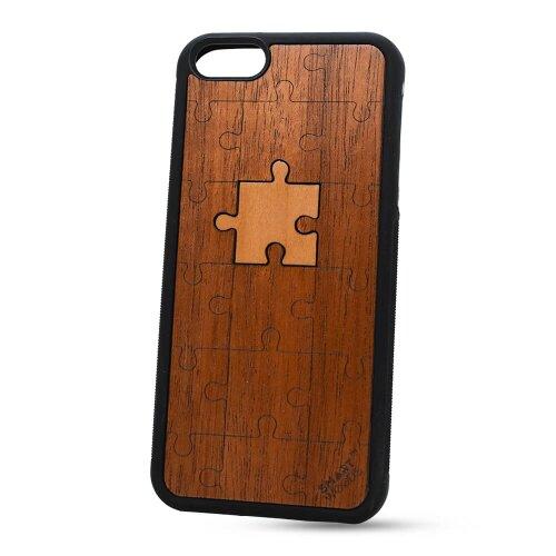 Puzdro SMARTWOODS TPU iPhone 5/5s/SE - puzzle