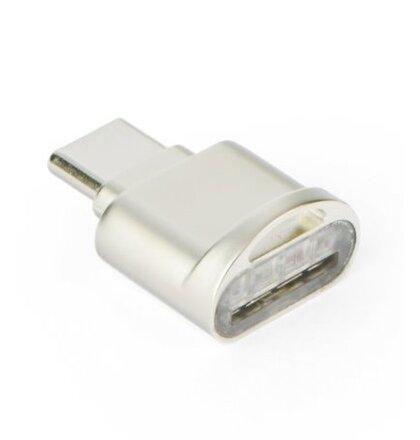 Adaptér MicroSD kartu do USB-C - strieborný