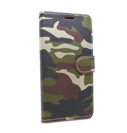 Puzdro Army Camouflage Book Huawei Y6 2019 - zelené