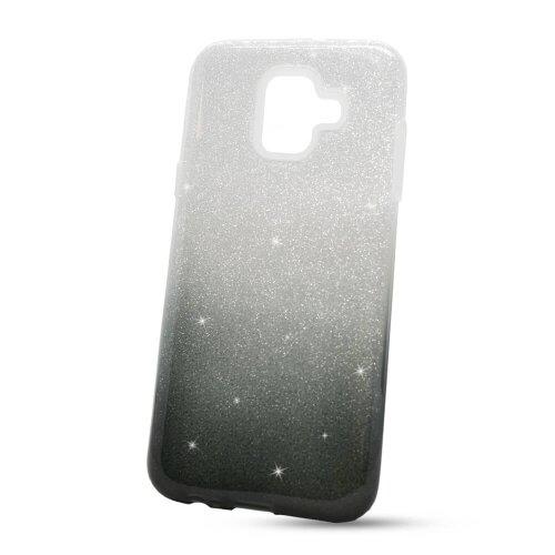 Puzdro 3in1 Shimmer TPU Samsung Galaxy A6 A600 - čierno-strieborné