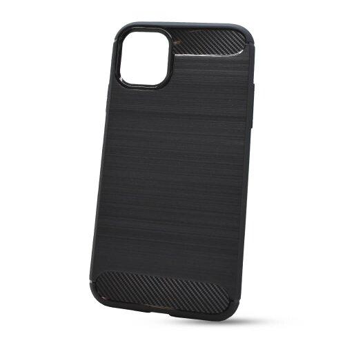 Puzdro Carbon Lux TPU iPhone 11 (6.1) - čierne