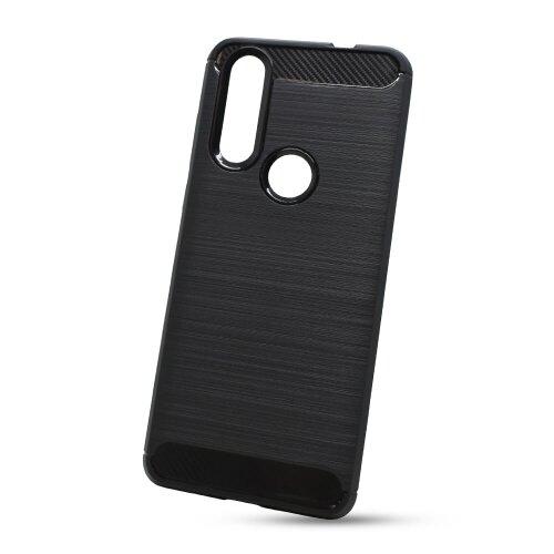 Puzdro Carbon Lux TPU Motorola One Action - čierne
