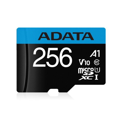 MicroSDXC karta A-DATA 256GB UHS-I 100/25MB/s + adaptér