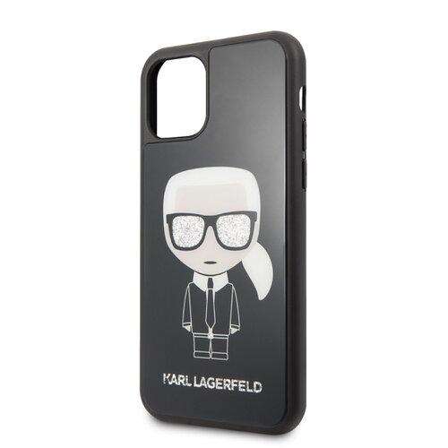 Puzdro Karl Lagerfeld pre iPhone 11 KLHCN61DLFKBK silikónové, čierne