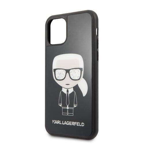 Puzdro Karl Lagerfeld pre iPhone 11 Pro KLHCN58DLFKBK silikónové, čierne