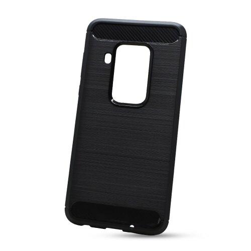 Puzdro Carbon Lux TPU Motorola One Zoom - čierne