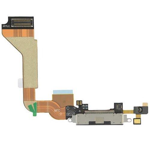 Apple iPhone 4 - Flex Kábel Nabíjacieho Konektora - Čierny