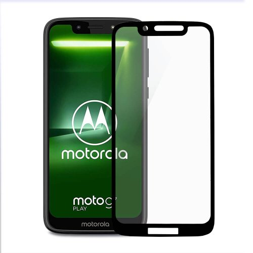 Tvrdene Sklo 5D 9H Motorola G7 Play celotvárové (full glue) - čierne