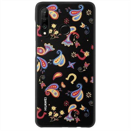 Huawei Original TPU Protective Kryt pro Huawei P30 Lite Flower Black (EU Blister)