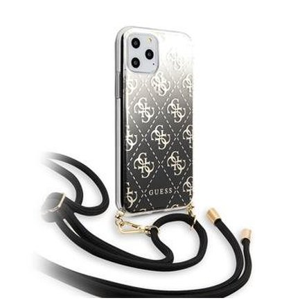 GUHCN61WO4GBK Guess 4G Gradient Zadní Kryt pro iPhone 11 Black (EU Blister)