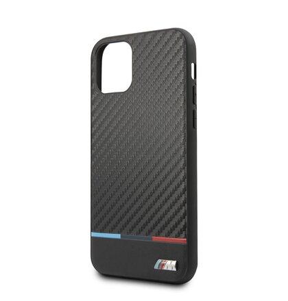 BMHCN58PUCART BMW M Carbon Tricolore Kryt pro iPhone 11 Pro Black