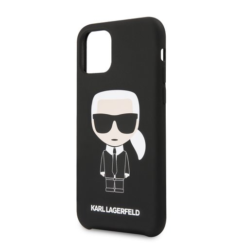 Puzdro Karl Lagerfeld pre iPhone 11 Pro KLHCN58SLFKBK silikónové, čierne